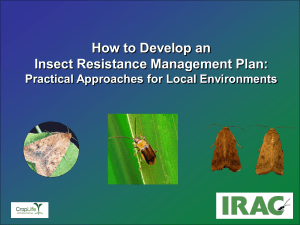 How to Develop an Insect Resistance Management Plan