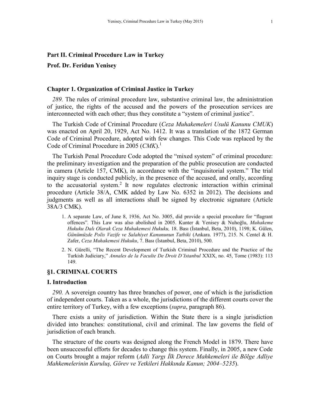 CODE OF CRIMINAL PROCEDURE (Part - II)