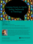 Coming Down to Earth: Doing Fieldwork in Theology