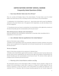 FAQs - United Nations Visitors` Service, Nairobi
