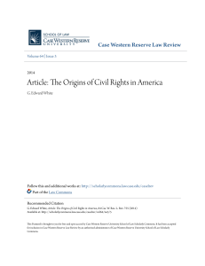 Article: The Origins of Civil Rights in America