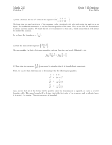 Math 256 Quiz 6 Solutions
