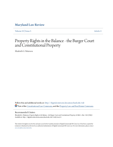 Property Rights in the Balance