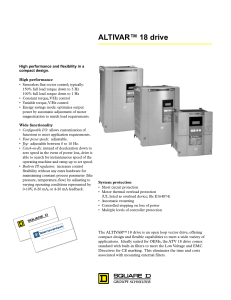Handout for ALTIVAR 18 AC Drives