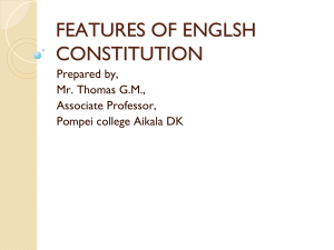 features of englsh constitution