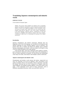 Translating Japanese onomatopoeia and mimetic words