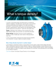 What is torque density?