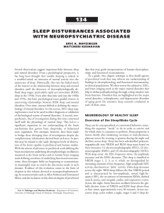 sleep disturbances associated with neuropsychiatric disease