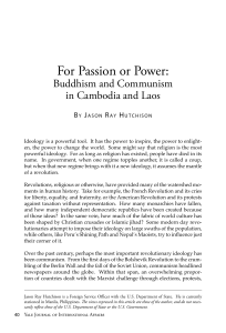 For Passion or Power - Yale Journal of International Affairs