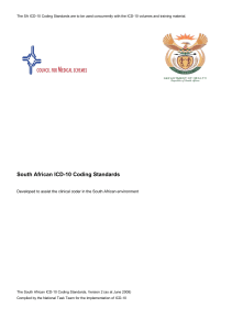South African ICD-10 Coding Standards