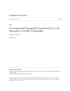 Consequential Damages for Commercial Loss