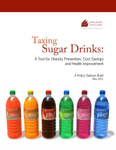 Taxing Sugar Drinks - Public Health Law Center