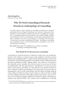 Why We Need Counsellogical Research