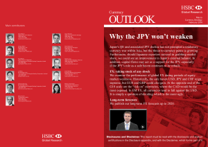 Currency Outlook-Why the JPY won`t weaken