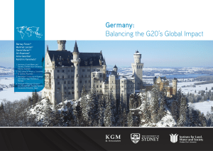 Germany: Balancing the G20`s Global Impact