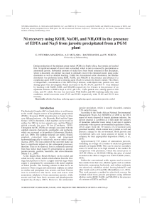 Ni recovery using KOH, NaOH, and NH4OH in the presence of