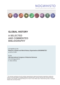 Global History: A selected and commented bibliography