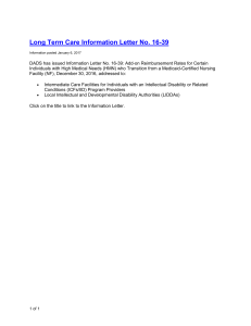 Long Term Care Information Letter No. 16-39