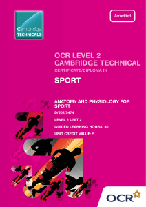 Level 2 - Unit 02 - Anatomy and physiology for sport