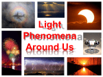 Light Phenomena Around Us