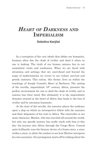 Heart of Darkness AND IMPERIALISM