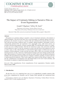 The impact of continuity editing in narrative film on event segmentation