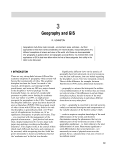 3. Geography and GIS