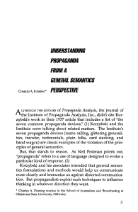 ALTHOUGH THE EDITORS of Propaganda Analysis, the journal of
