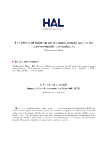 The effects of inflation on economic growth and on its - Hal-SHS