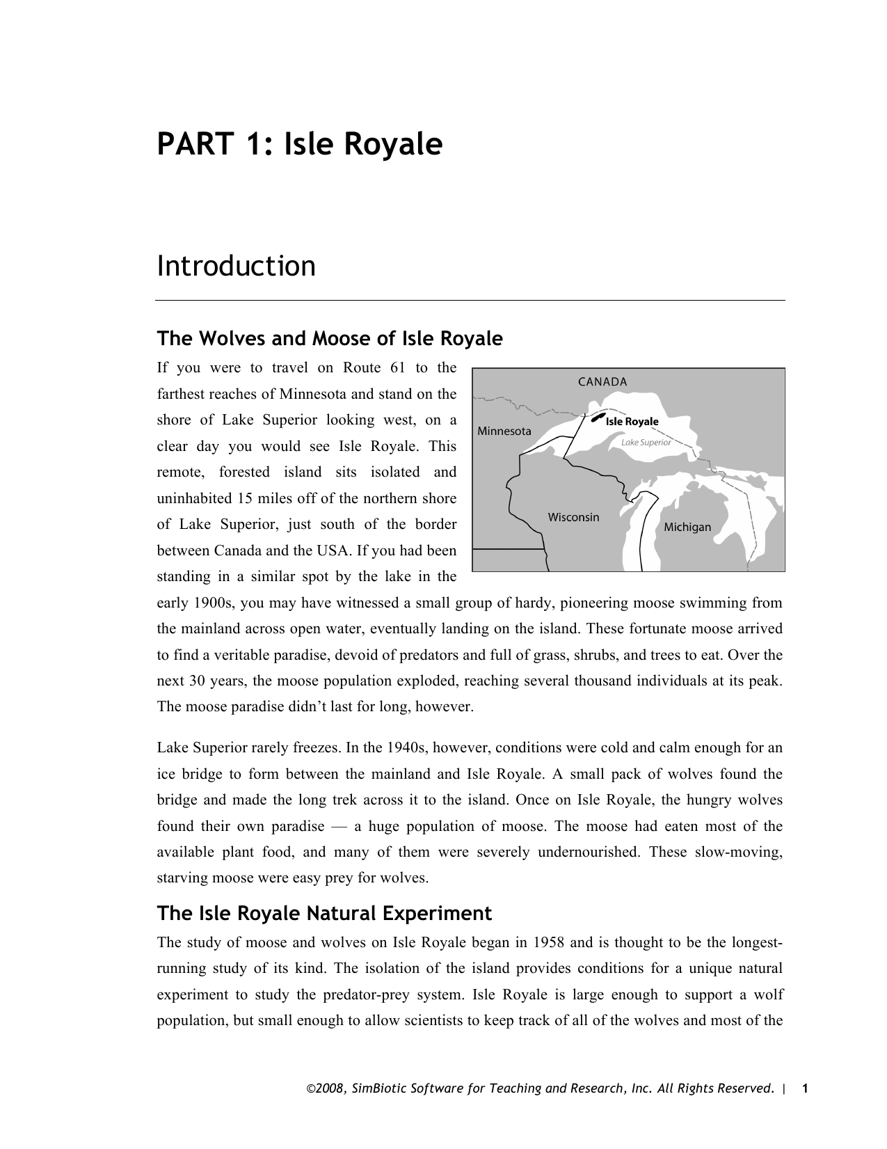 Wolf And Moose Population On Isle Royale Worksheet