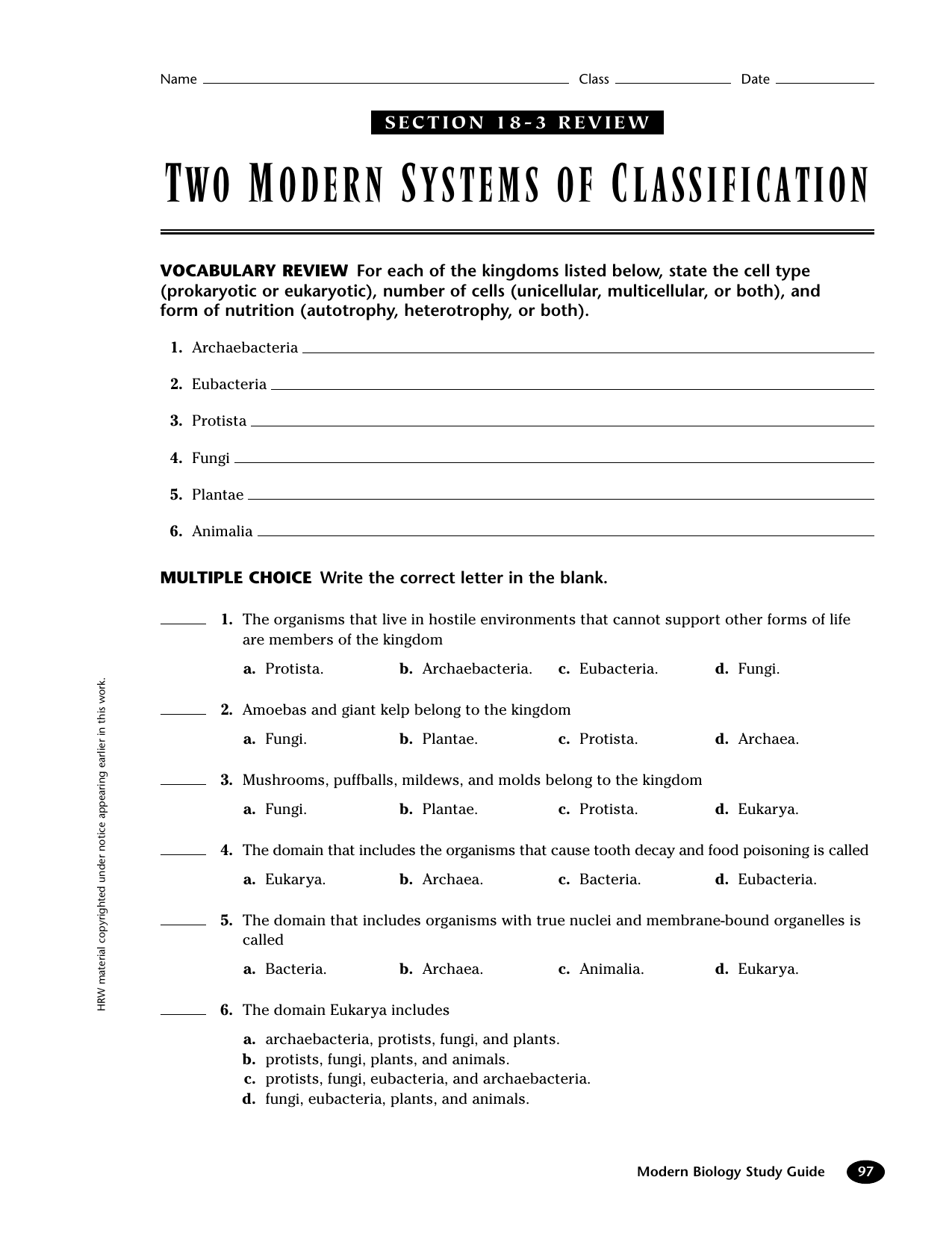 TWO MODERN SYSTEMS OF CLASSIFICATION