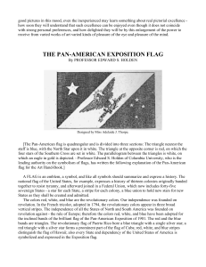 THE PAN-AMERICAN EXPOSITION FLAG