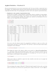 Applied Statistics : Practical 11