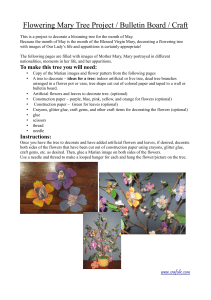 Flowering Mary Tree Project / Bulletin Board / Craft