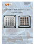Keypads with CuVerro® Keys - Bactericidal Copper Keyboards