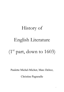History of English Literature - ORBi