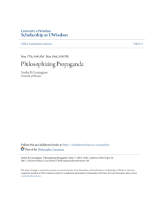 Philosophizing Propaganda - Scholarship at UWindsor