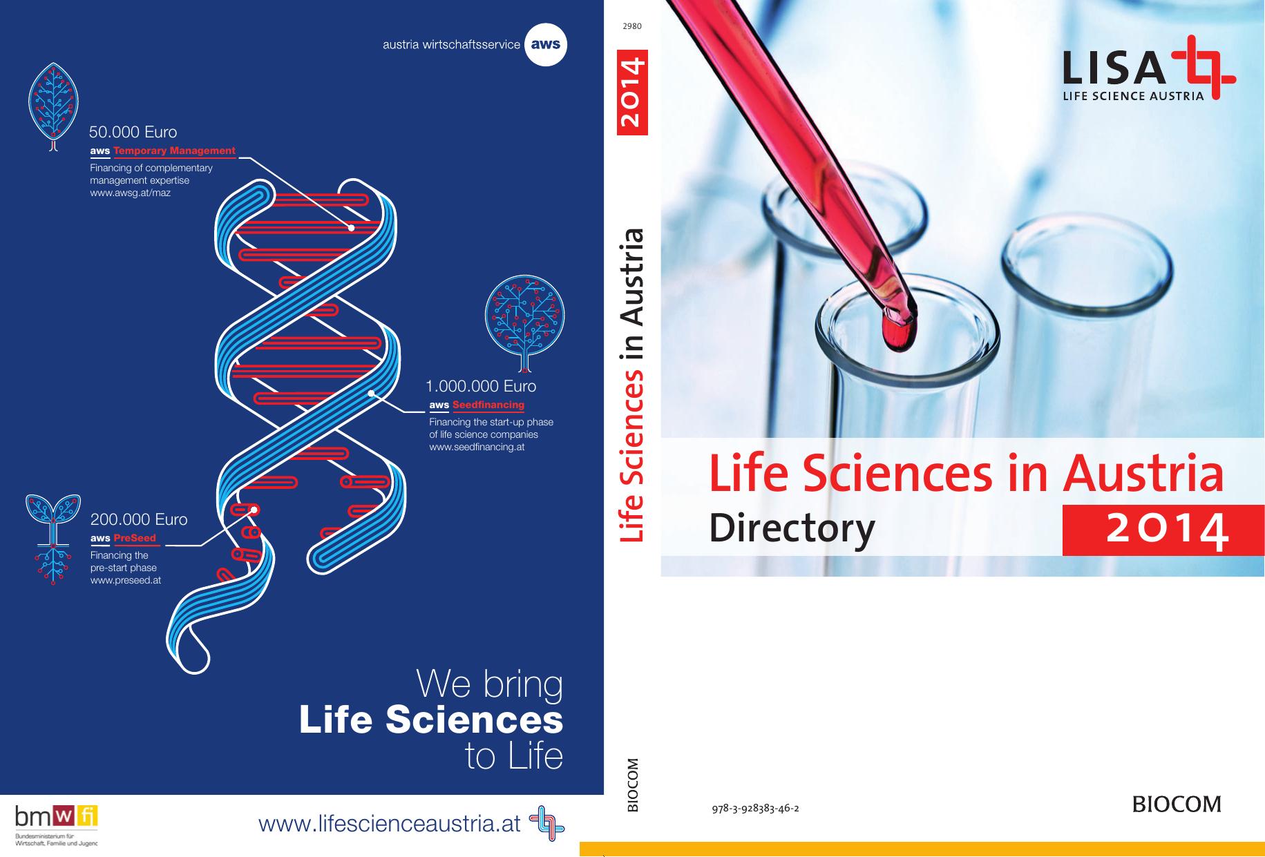 life sciences in austria 2014 austrian life sciences directory