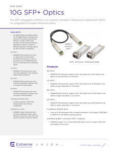 10G SFP+ Optics