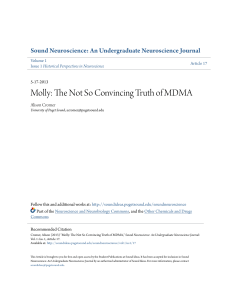 Molly: The Not So Convincing Truth of MDMA