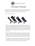 Choosing a Telescope - St. Petersburg Astronomy Club