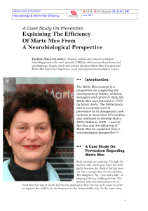 Explaining The Efficiency Of Marte Meo From A Neurobiological