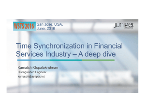 Time Synchronization in Financial Services Industry – A deep dive