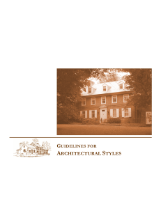 Guidelines for Architectural Styles