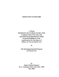 OPERATION OVERLORD A Thesis - Louisiana State University
