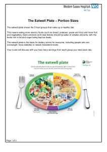 The Eatwell Plate – Portion Sizes