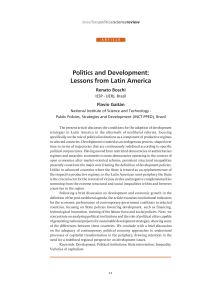 Politics and Development: Lessons from Latin America