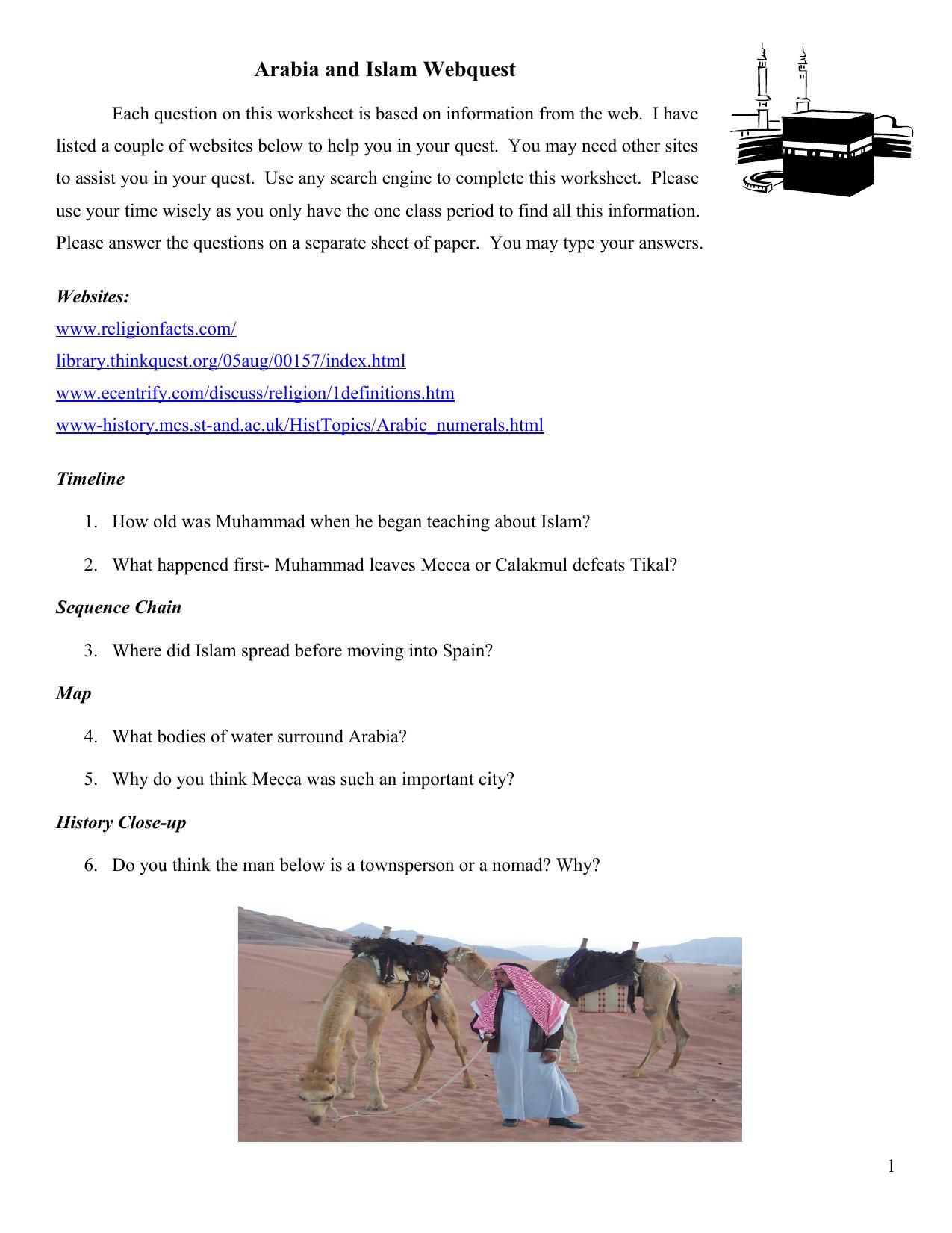 Arabia and Islam Quest - PDF