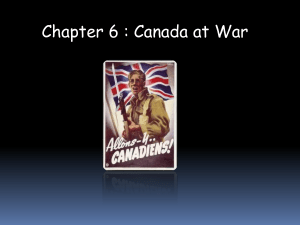 Chapter 6 : Canada at War