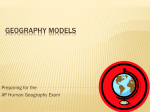 Geography Models